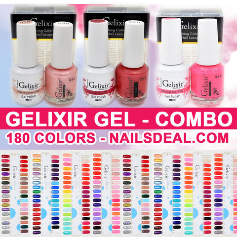 Gelixir Gel Duo Combo - (1 to 180) - Free color chart
