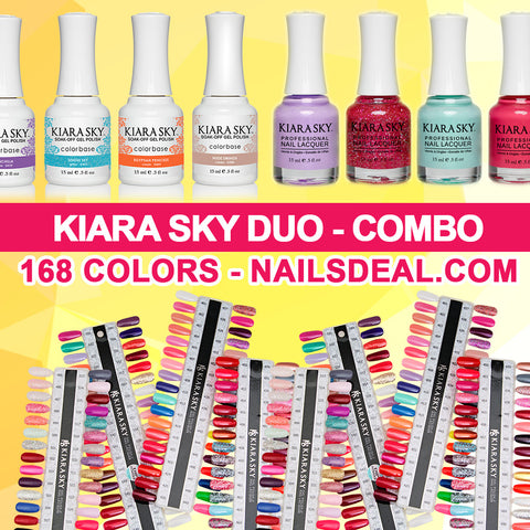 Kiara Sky Gel Matching (168 colors) - Free color chart
