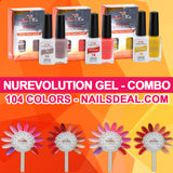 NuRevolution Gel Combo - (1 - 104) - Free color chart