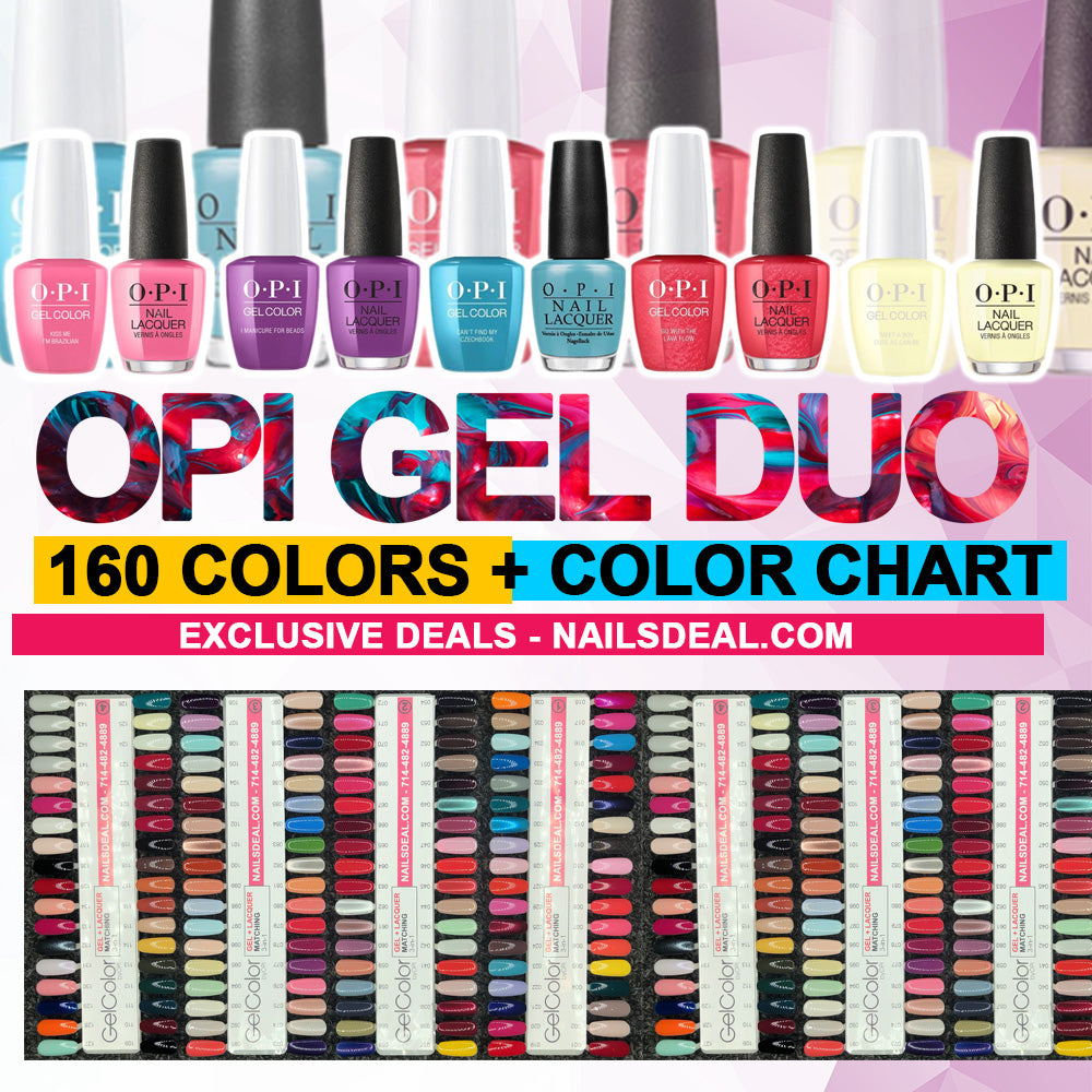 OPI Gel Duo Matching Color Combo - (160 colors) - Free OPI color chart