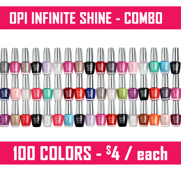 OPI Infinite Shine Combo (50 colors) - 0.5oz - 100% authentic