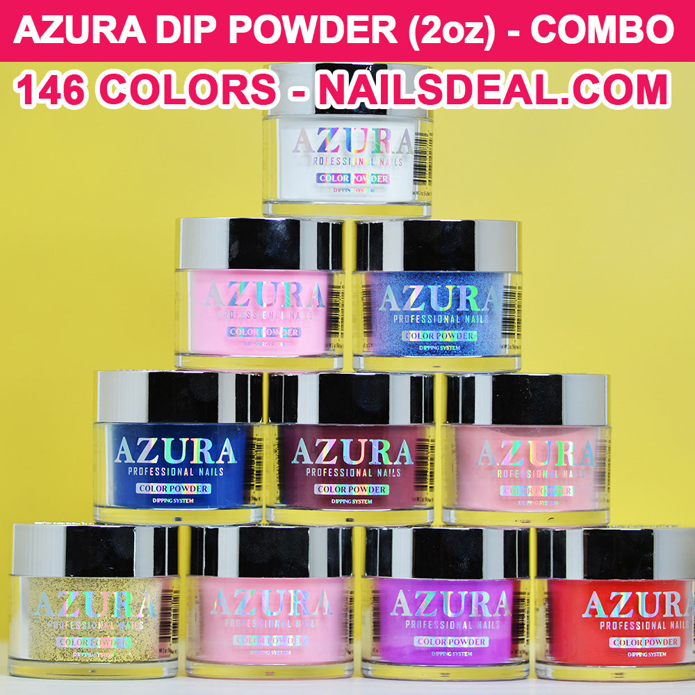 Azura Dip Powder 2oz Combo Free Color Chart Nails Deal Amp Beauty Supply