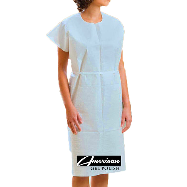 Protective Jacket Disposable Isolation Clothing, Non-Woven for Health-Care Workers & Patients, Elastic Cuffs, Back Ties, Latex Free