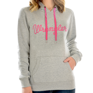 Wrangler Womens Whitney Pull-over Hoodie- GREY