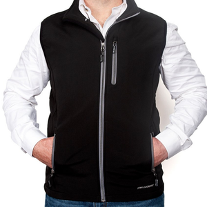 Just Country Mens Geoffrey Softshell Vest - BLACK - Stylish Outback Clothing
