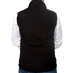 Just Country Mens Geoffrey Softshell Vest - BLACK