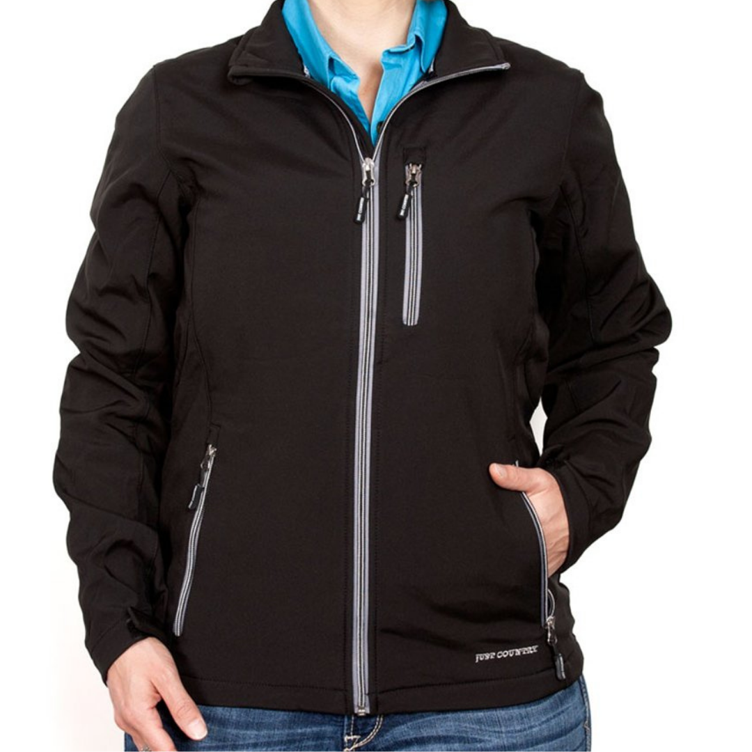 Just Country Womens Francis Softshell Jacket - BLACK