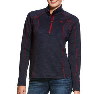 Ariat Womens Conquest LS Half Zip Top- NAVY