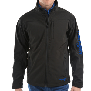 Wrangler Mens Logo Softshell Weatherproof Jacket