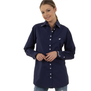 BullRush Womens XAR Series Shirt- NAVY - Stylish Outback Clothing