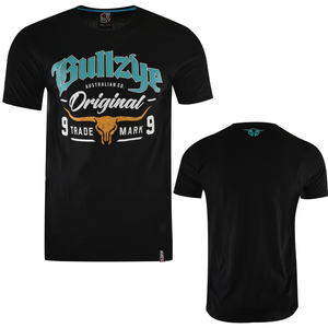 Bullzye Mens Boundary Tee Shirt - BLACK - Stylish Outback Clothing