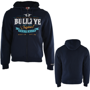 Bullzye Mens Dylan Zip Up Hoodie- NAVY