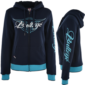 Bullzye Womens Ryder Zip Hoodie - NAVY - Stylish Outback Clothing