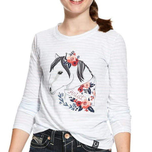 Stylish Outback Clothing Brands Ariat Girls Boho Horse LS Tee Shirt