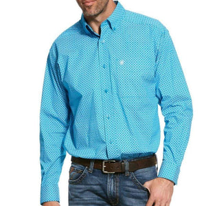 Ariat Mens Scott Print Classic-Fit Stretch LS Shirt - Stylish Outback Clothing