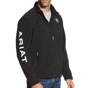 Stylish Outback Clothing Brands Ariat Mens Team Logo Softshell Jacket - BLACK