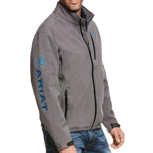 Stylish Outback Clothing Brands Ariat Mens Team Logo Softshell Jacket - GREY
