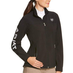 Stylish Outback Clothing Brands Ariat Womens Team Logo Softshell Jacket - BLACK