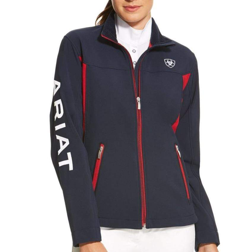 Stylish Outback Clothing Brands Ariat Womens Team Logo Softshell Jacket - NAVY