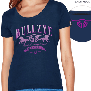 Stylish Outback Clothing Brands Bullzye Womens Great Southern Crew-neck Tee- NAVY