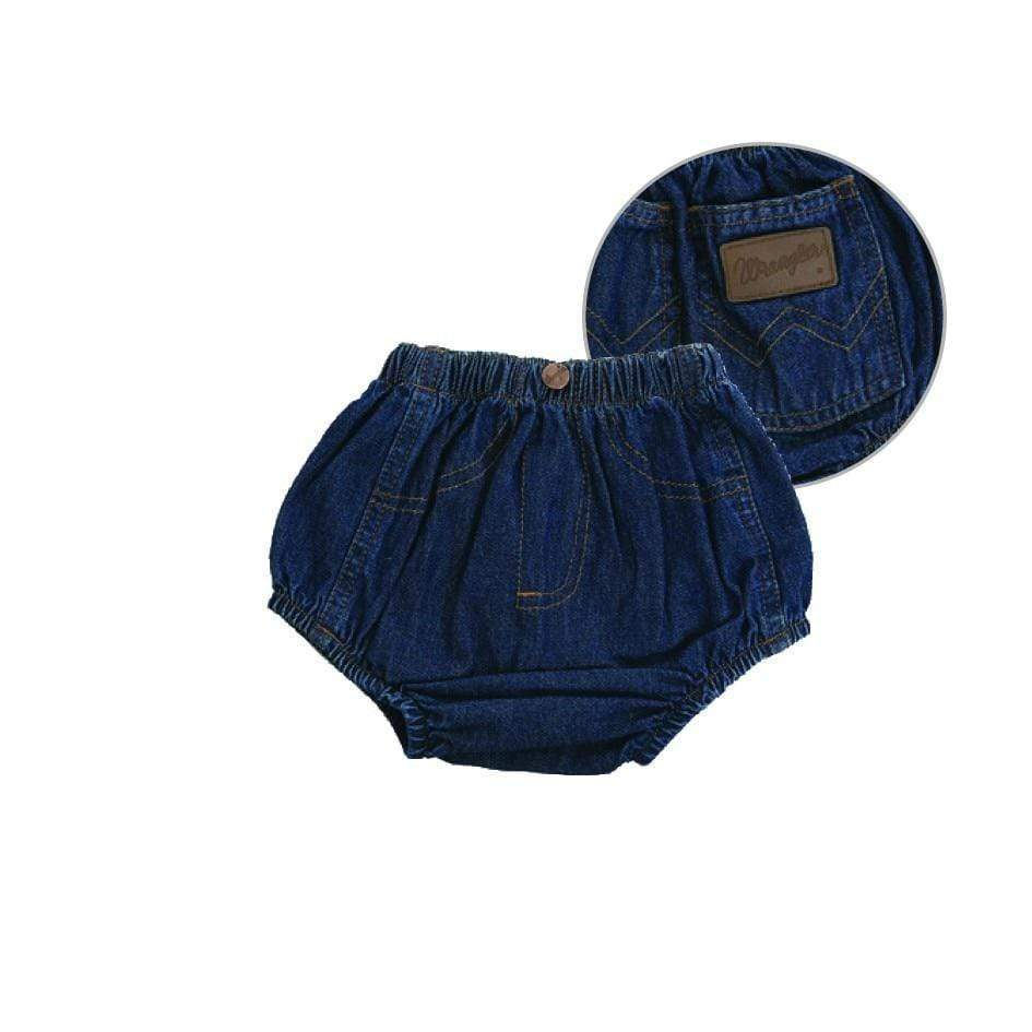 vendor-unknown Brands 12 mths (Allow 2-5 Business Days to Shipping) Wrangler Baby Western Denim Nappy Cover