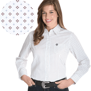 Stylish Outback Clothing Brands Wrangler George Strait Womens Print LS Shirt