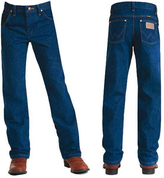 vendor-unknown Brands 8 Wrangler Kids ProRodeo Adjustable waist Jean-PRE WASHED INDIGO-REG 8-16