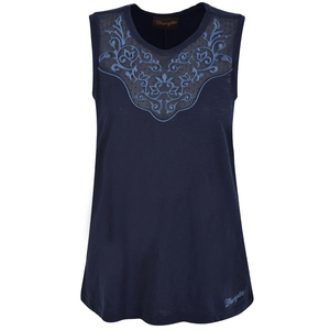 Stylish Outback Clothing Brands Wrangler Womens Dot Navy Lace Tank Top