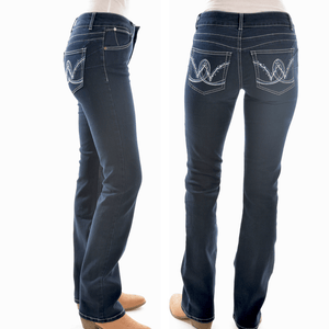 "Stylish Outback Clothing Brands Wrangler Womens Jackson Mid-Rise Bootcut Jeans -34"" Leg"