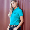 Stylish Outback Clothing Brands Wrangler Womens Tina Polo- TEAL