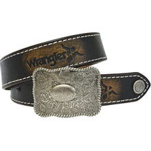 Stylish Outback Clothing Childrens Wear Wrangler Kids Full Grain Leather Abrasion Belt