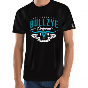 Stylish Outback Clothing Mens Bullzye Mens Hard n Fast Tee Shirt - BLACK