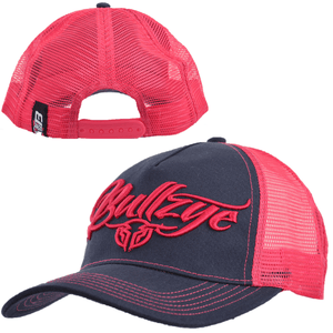Stylish Outback Clothing Mens Bullzye Signature Cap - NAVY/ PINK