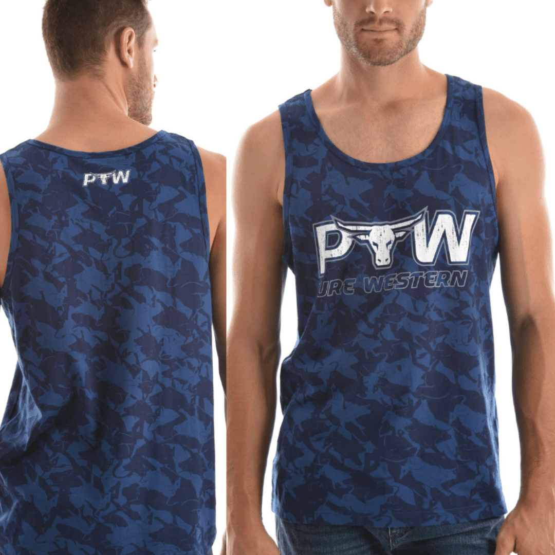 Stylish Outback Clothing Mens Pure Western Mens Nate Singlet