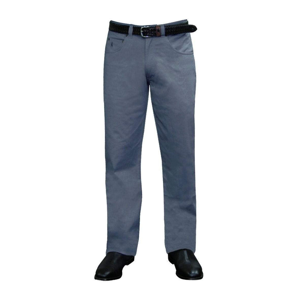 Stylish Outback Clothing Mens Thomas Cook Mens Comfort Waist Moleskin Pants-Mid-Reg-Straight GREYSTONE