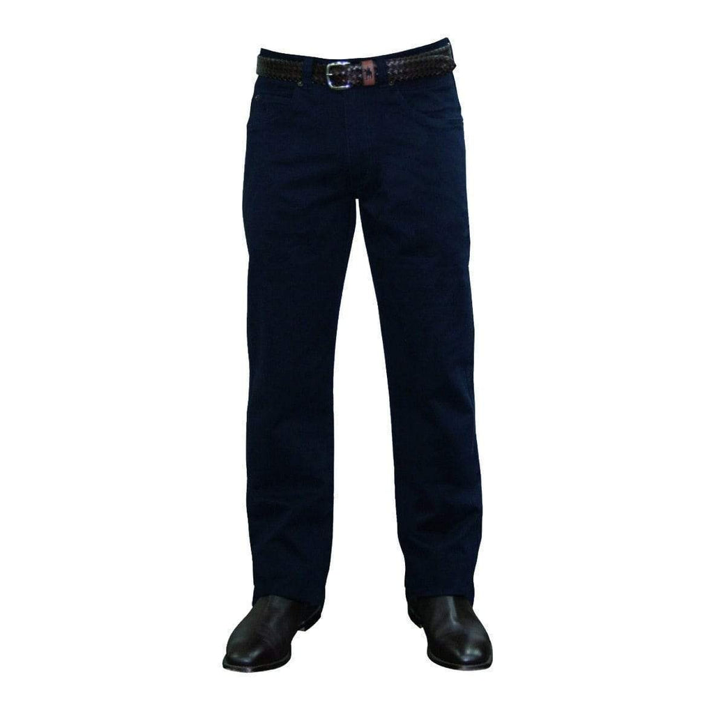 Stylish Outback Clothing Mens Thomas Cook Mens Comfort Waist Moleskin Pants-Mid-Reg-Straight NAVY