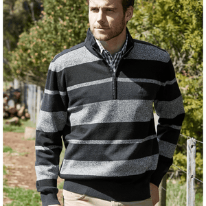Stylish Outback Clothing Mens Thomas Cook Mens Euroa Merino Blend Pullover