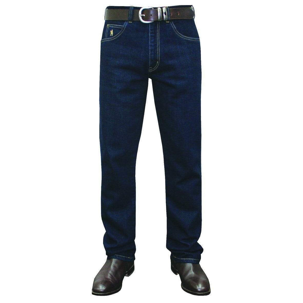 Stylish Outback Clothing Mens Thomas Cook Mens Stretch Denim Jean Mid-Reg-WASHED INDIGO