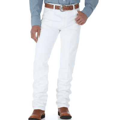 "Stylish Outback Clothing Mens Wrangler Mens Original Fit Jean-36"" leg only-WHITE"