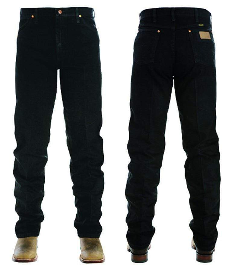 "vendor-unknown Mens 34"" / 27 (Allow 2-4 Business Days to Shipping) Wrangler Mens Original Fit Jean-BLACK 13MWZWK"