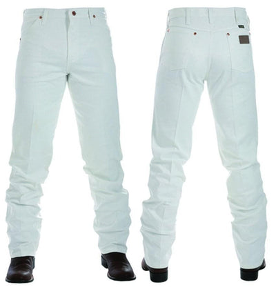 "vendor-unknown Mens 36"" / 28 Wrangler Mens Original Fit Jean-WHITE"