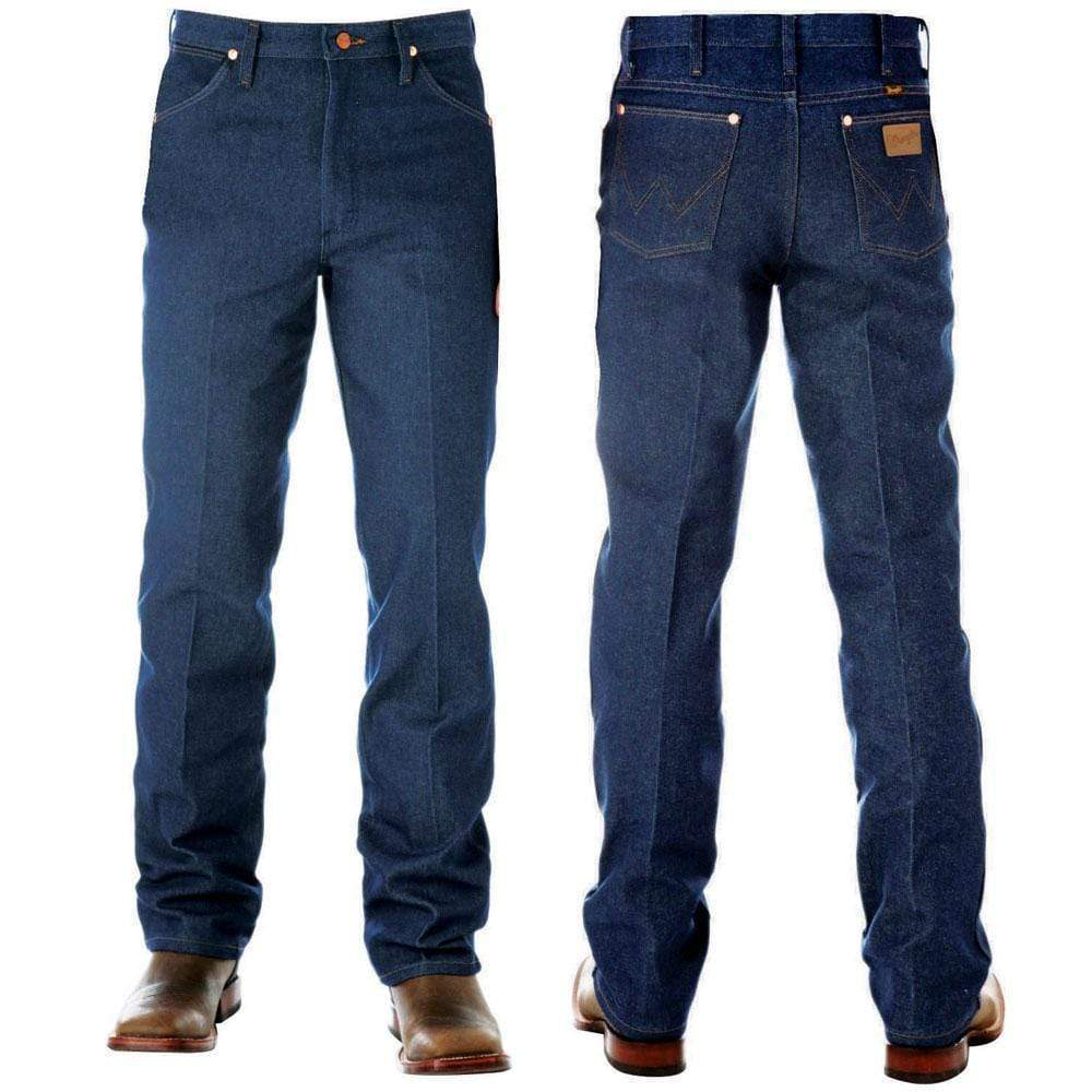 "vendor-unknown Mens 38"" / 27 (allow 2-4 business days before Shipping) Wrangler Mens Original Fit-PRE WASHED INDIGO 38"" Leg - 13MWZPW"