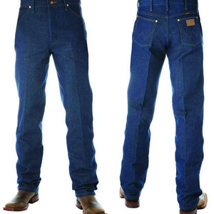 "vendor-unknown Mens 32"" / 28 (In Stock for Immediate Shipping) Wrangler Mens Original Fit-RIGID INDIGO 32"" Leg - 13MWZ"