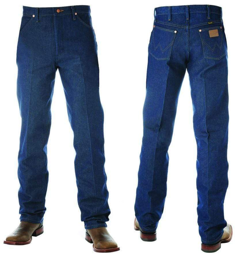 "vendor-unknown Mens 36"" / 28 (Allow 2-4 Business days to Shipping) Wrangler Mens Original Fit-RIGID INDIGO 36"" Leg - 13MWZ"