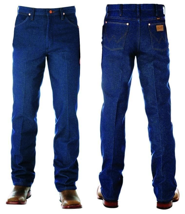 "vendor-unknown Mens 34"" (Allow 2-5 Business Days to Shipping) / 29 Wrangler Mens SLIM Fit Jean-RIGID INDIGO- 34"" Leg- 0936DEN"