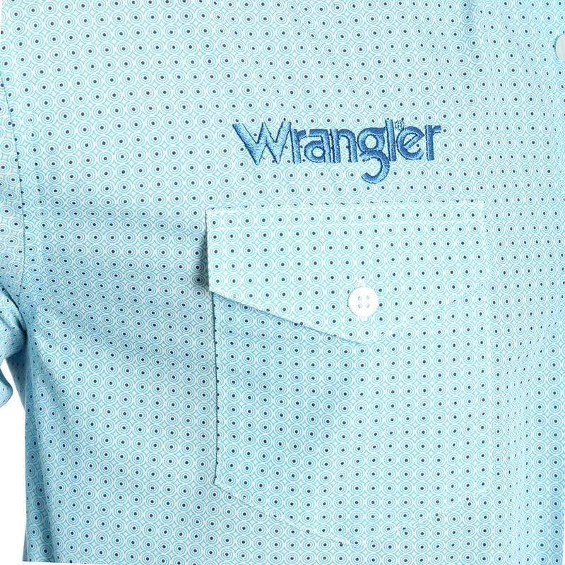 Stylish Outback Clothing Mens Wrangler Mens Western Logo Print LS shirt