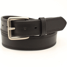 Stylish Outback Clothing Womens Ariat Triple stitched Full grain Leather Belt - BLACK