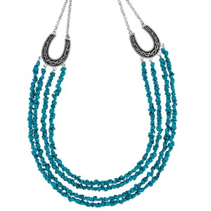 Stylish Outback Clothing Womens Montana Silversmiths- Horseshoe Turquoise Necklace