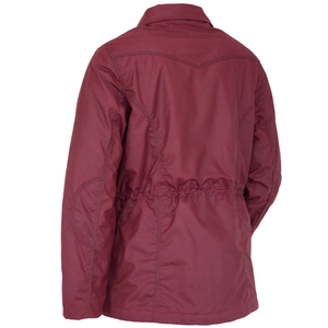 Outback Trading Womens Adelaide Berber-Lined Jacket-BERRY - Stylish Outback Clothing