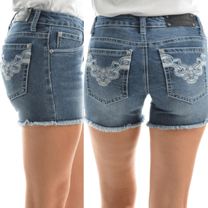 Pure Western Womens Asha StretchDenim Shorts - Stylish Outback Clothing